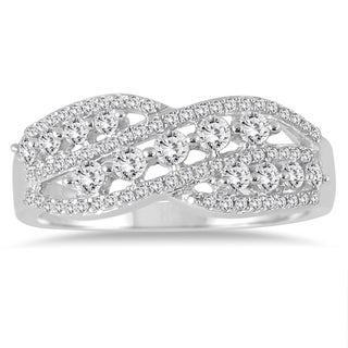 Marquee Jewels 10k White Gold 5/8ct TDW Diamond Fashion Ring