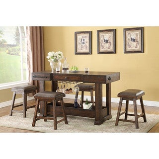 Whitaker Furniture Gettysburg Island Counter Bar Set
