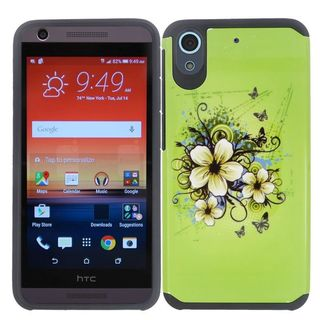 Insten Green/White Camouflage Hard PC/ Silicone Dual Layer Hybrid Rubberized Matte Case Cover For HTC Desire 626/ 626s