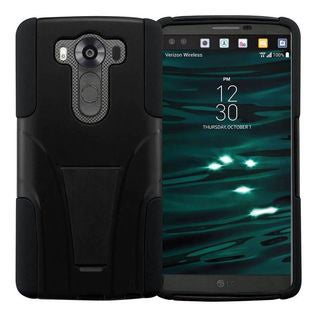 Insten Hard PC/ Silicone Dual Layer Hybrid Case Cover with Stand For LG V10