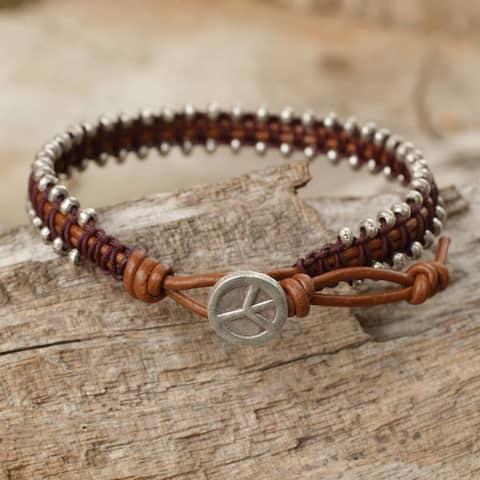 Handmade Sterling Silver 'Peaceful Tribe' Bracelet (Thailand)