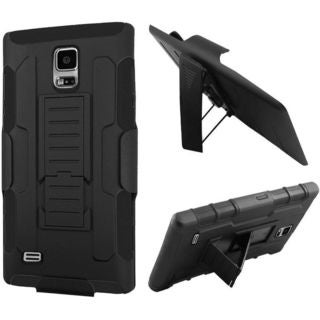 Insten Black Car Armor Hard PC/ Silicone Dual Layer Hybrid Case Cover with Holster For Samsung Galaxy S5