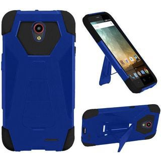 Insten Hard PC/ Silicone Dual Layer Hybrid Case Cover with Stand For ZTE Prestige