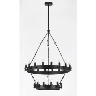 Rustic Two Tier 30 Light Chandelier