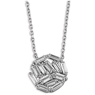Sterling Silverplated Cubic Zirconia Baguette Necklace