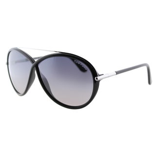 Tom Ford Tamara TF 454 01C Shiny Black Fashion Plastic Sunglasses