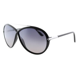 Tom Ford Tamara TF 454 01C Shiny Black Fashion Plastic Sunglasses|https://ak1.ostkcdn.com/images/products/11540300/P18486430.jpg?impolicy=medium