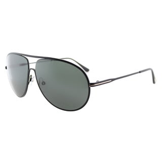 Tom Ford Cliff TF 450 02N Matte Black Aviator Metal Sunglasses