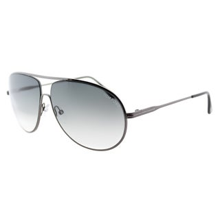 Tom Ford Cliff TF 450 09B Matte Gunmetal Aviator Metal Sunglasses