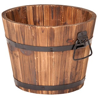 Small Round Whiskey Barrel Planter