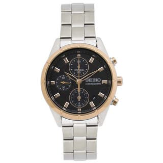 Seiko Women's Stainless Steel SNDX46P1 Brown Dial Chronograph Watch|https://ak1.ostkcdn.com/images/products/11540339/P18486502.jpg?impolicy=medium