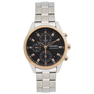 Seiko Women's Stainless Steel SNDX46P1 Brown Dial Chronograph Watch