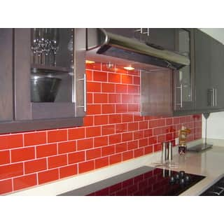 Tomato Red Glass 3x6 Lush Tile|https://ak1.ostkcdn.com/images/products/11540350/P18486485.jpg?impolicy=medium