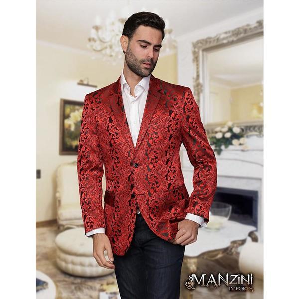 Men's manzini red sport coat