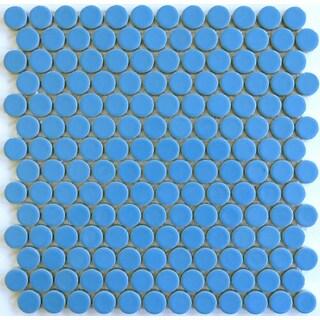Modwalls Blue Jay ModDotz Porcelain Penny Rounds