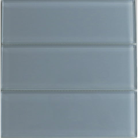 Modwalls Lush 4x12 Fog Bank Gray Glass Subway Tile