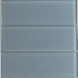 Fog Bank Gray 4x12 Lush Glass Subway Tile