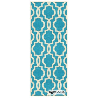 """Fancy Moroccan Trellis Non-Slip Runner Rug Rubber Backed (20"""" x 59"""") - 1'10 x 5' (More options available)"""