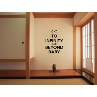 Shop Phrase Infinity And Beyond Wall Art Sticker Decal