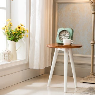 Porthos Home Iris Walnut Round Side Table