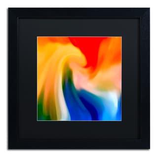 Amy Vangsgard 'Storm At Sea Square 1' Matted Framed Art