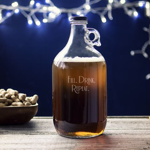 Fill. Drink. Repeat. 64-ounce Craft Beer Growler