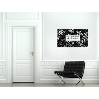 Flowers in a frame Try A Little Harder Wall Art Sticker Decal