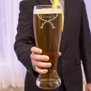 Groomsman Antlers 54-ounce XL Beer Pilsner Glass