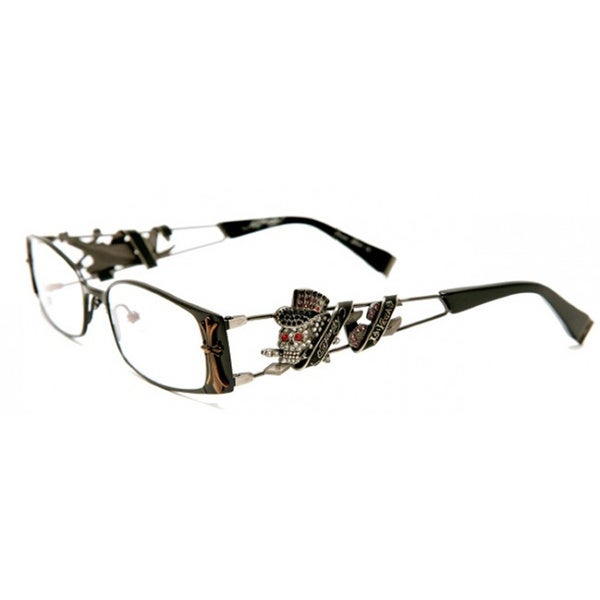 c9a5b053dc Shop Ed Hardy EHO 708 Brown Optical RX Tattoo Eyeglasses - Free Shipping  Today - Overstock - 11540509