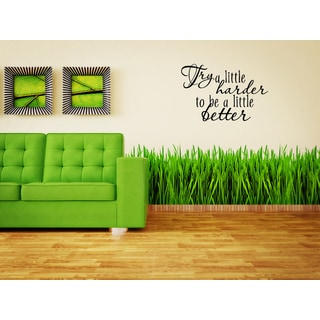 Just words Try A Little Harder Wall Art Sticker Decal