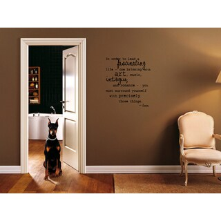 A Fascinating Life quote Wall Art Sticker Decal