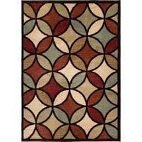 "Carolina Weavers American Tradition Collection Carnivale Multi Area Rug - 7'10"" x 10'10"""