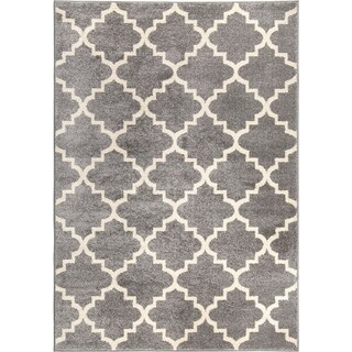 Carolina Weavers American Tradition Collection Garden Gate Grey Area Rug (7'10 x 10'10)