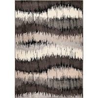 Carolina Weavers Static Stripes Multi Area Rug - 5'3 x 7'6