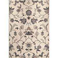 """Carolina Weavers American Tradition Collection Plymouth Ivory Area Rug (5'3 x 7'6) - 5'3"""" x 7'6"""""""