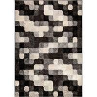 Carolina Weavers American Tradition Collection Pixelated Night Gray Area Rug (5'3 x 7'6) - 5'3 x 7'6