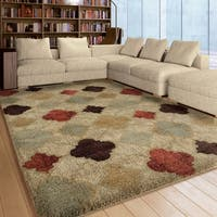 Pine Canopy Sand Ridge Multicolored Modern Area Rug - 5'3 x 7'6