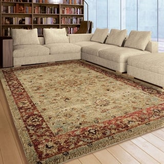 Carolina Weavers American Tradition Collection Prime Border Multi Area Rug (5'3 x 7'6)