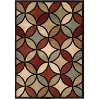 Carolina Weavers American Tradition Collection Carnivale Multi Area Rug - 5'3 x 7'6