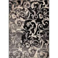 Carolina Weavers American Tradition Collection Secluded Scroll Multi Area Rug - 5'3 x 7'6