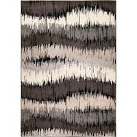 "Carolina Weavers Static Stripes Multi Area Rug - 7'10"" x 10'10"""