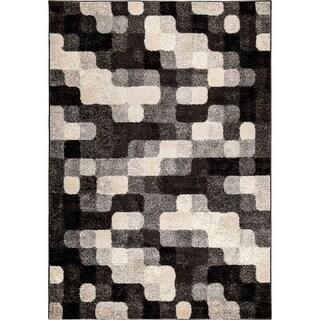 Carolina Weavers Geometric Pixelated Night Grey Area Rug (7'10 x 10'10)