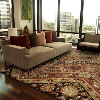 Carolina Weavers American Tradition Collection Paisely Willow Multi Area Rug (7'10 x 10'10)
