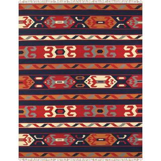Reversible Anatolian Kilim Hand Woven Cotton Rug (4' x 6')