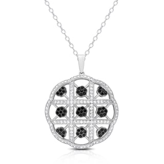 Samantha Stone Sterling Silver Cubic Zirconia and Crystal Necklace