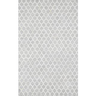 Pasargad Trellis Silver Cowhide Rug (6' x 9')