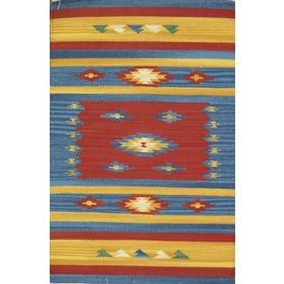 Reversible Anatolian Kilim Hand Woven Cotton Rug (5' x 8')