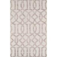 Hand-tufted Transitiona Geometric Viscose Silk/ Wool Rug (5' x 8')