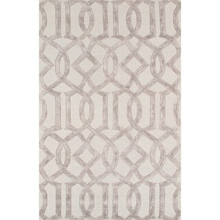 Hand-tufted Transitiona Geometric Viscose Silk/ Wool Rug (5' x 8')