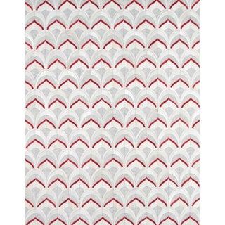 Pasargad Geometric Silver Cowhide Rug (8' x 10')